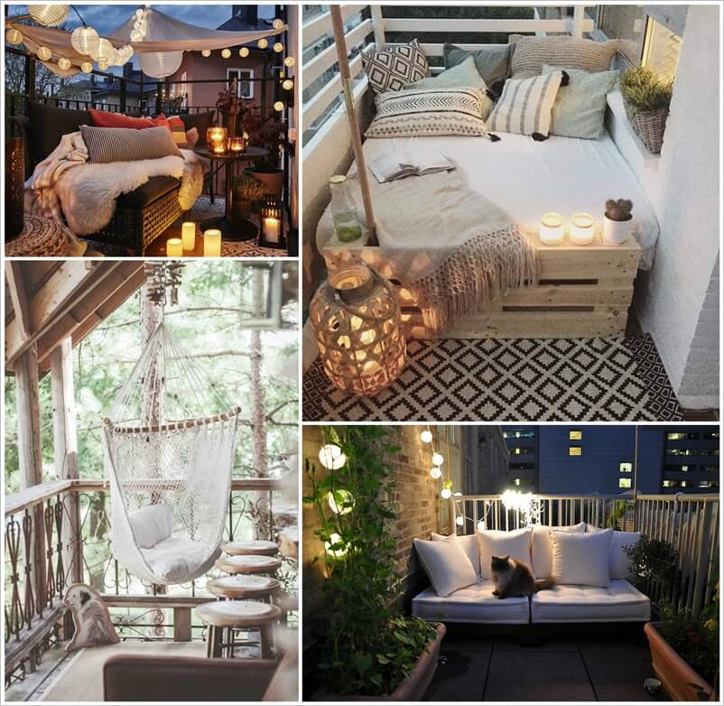 over 20 cozy ideas to decorate your balcony