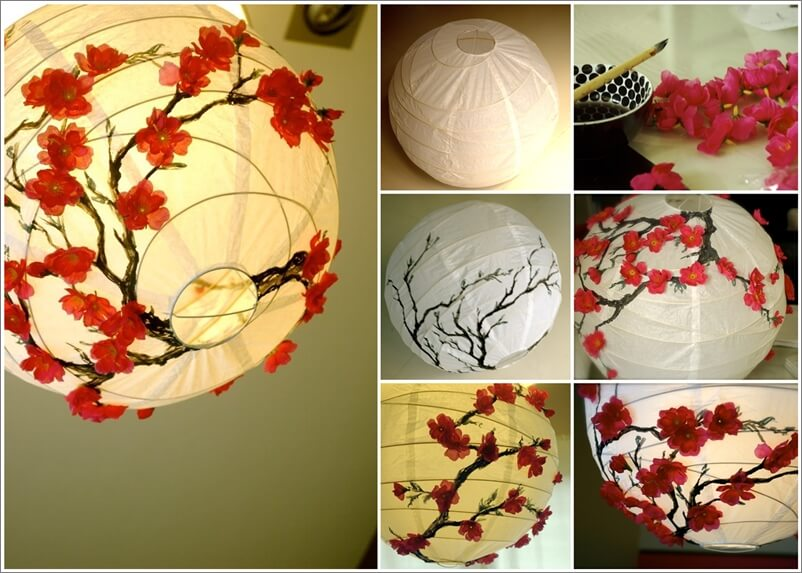 This Cherry Blossom Lantern Makeover is Simply Lovely 1