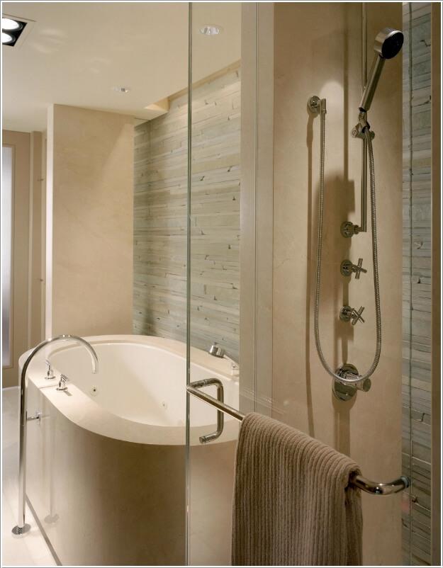 10 Chic and Classy Behind Bathtub Wall Ideas 1