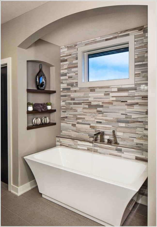 10 Chic And Classy Behind Bathtub Wall Ideas