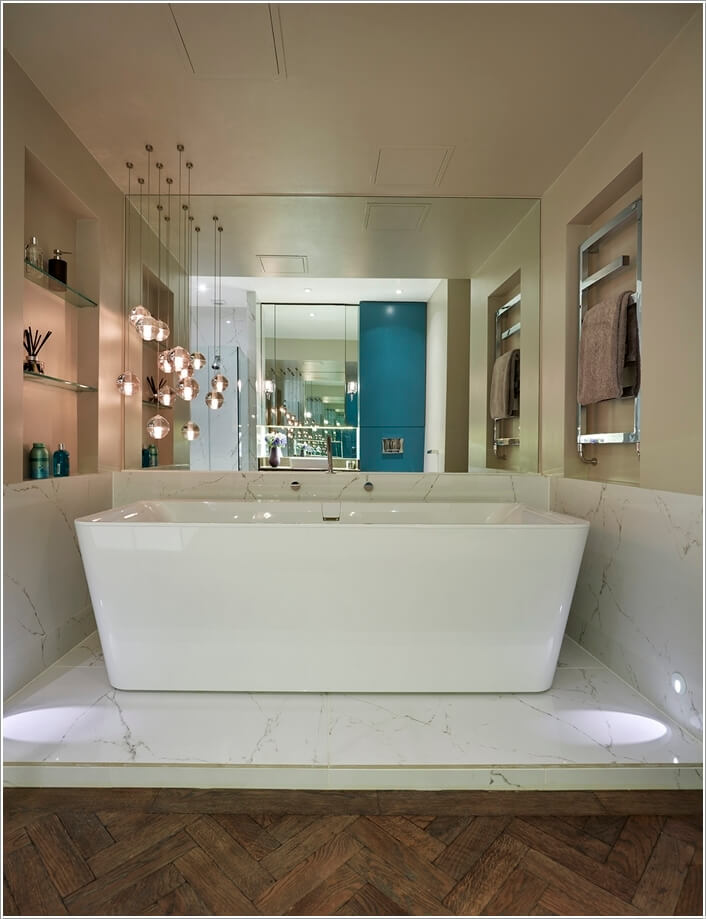 10 Chic and Classy Behind Bathtub Wall Ideas 8