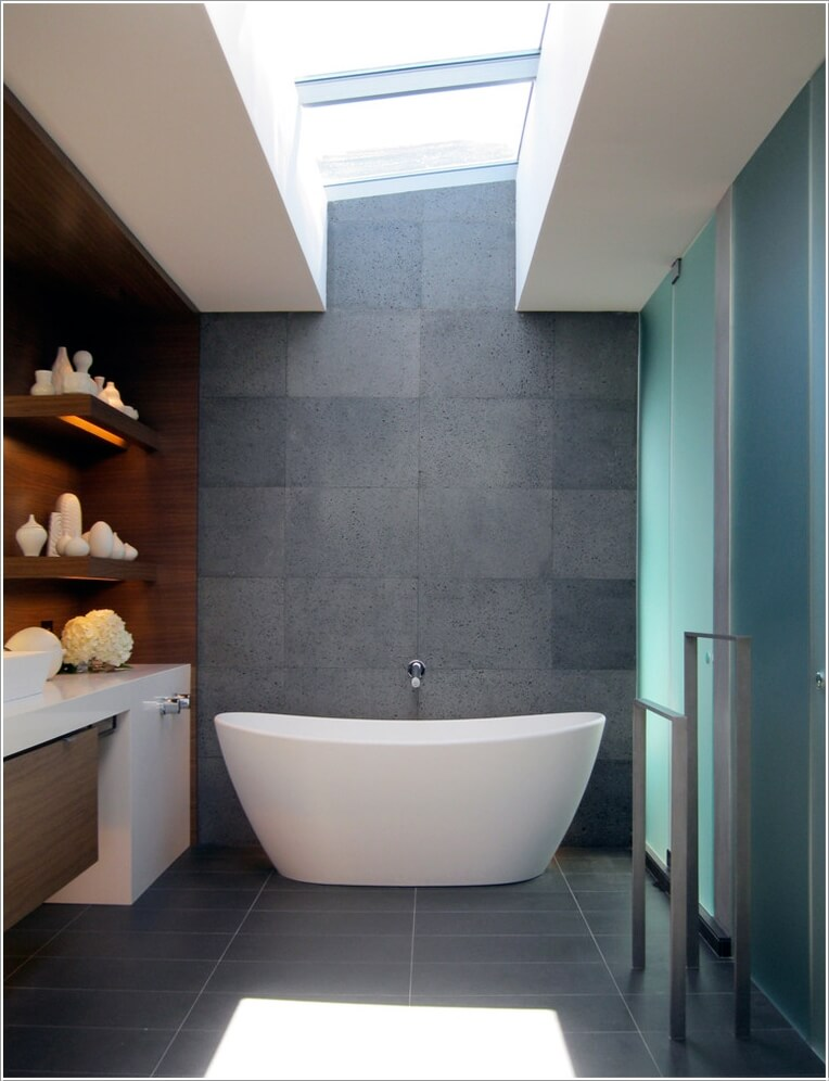 10 Chic and Classy Behind Bathtub Wall Ideas 9