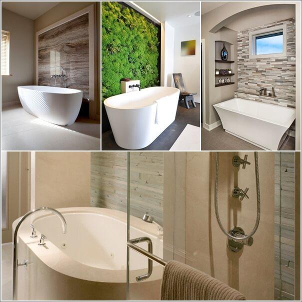 10 Chic and Classy Behind Bathtub Wall Ideas a