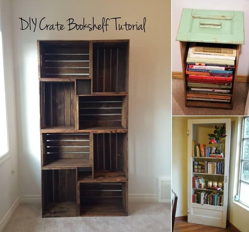 10 Cool DIY Bookcase Ideas That Won't Break The Bank