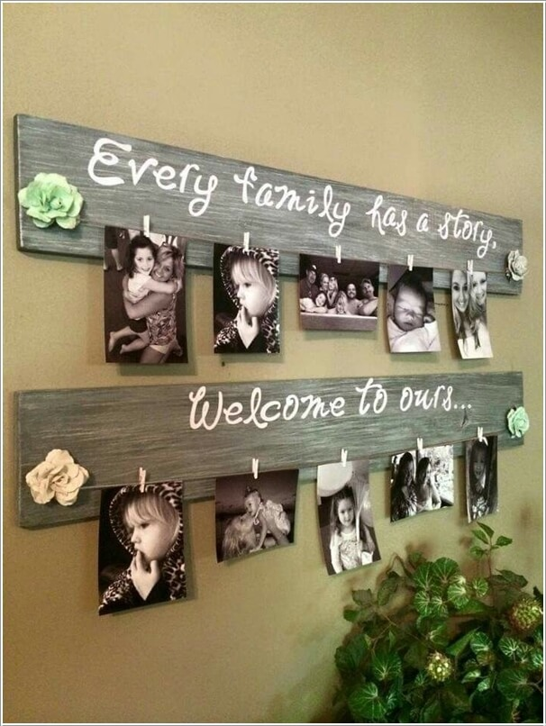 10 Cool Ways to Decorate Your Walls with Family Photos 2