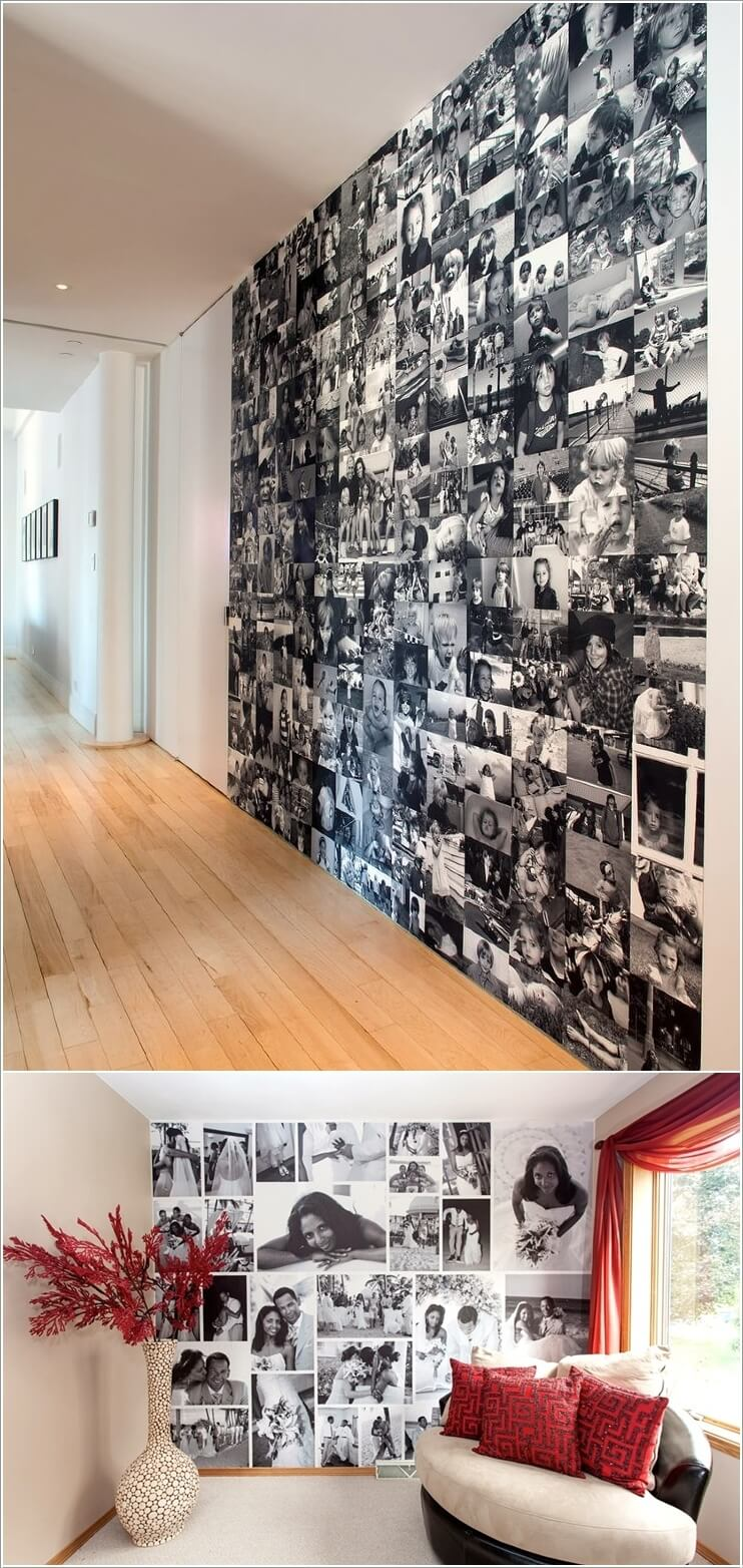 Ways To Decorate Your Living Room For Cheap: 10 Cool Ways To Decorate Your Walls With Family Photos