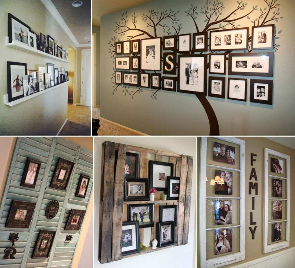 10 Cool Ways To Decorate Your Walls With Family Photos