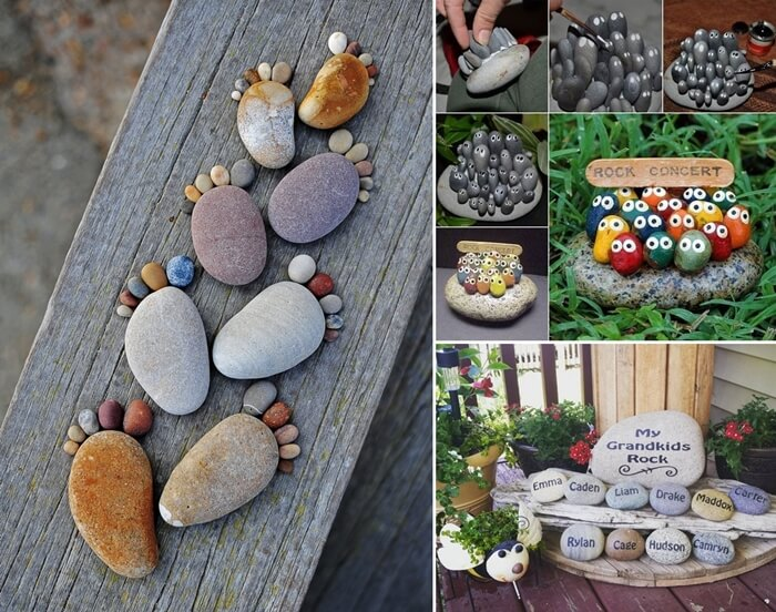 10 cute and creative projects to make from rocks for Diy projects with rocks