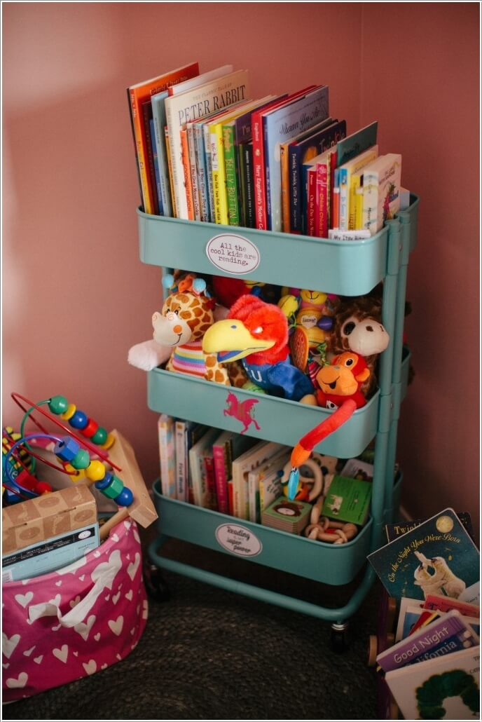 10 cute nursery toy storage ideas you will admire How to store books in a small bedroom