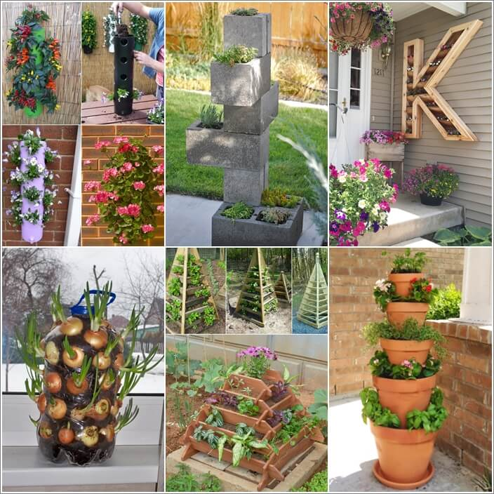 10 Lovely Vertical Planter Ideas For Small Spaces
