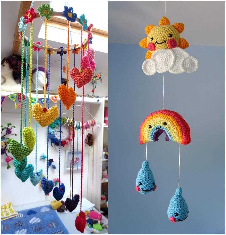 10 Super Cute Ideas to Decorate Your Kids' Room with Crochet 2