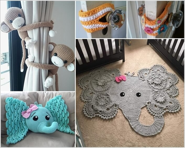 10 Super Cute Ideas to Decorate Your Kids' Room with Crochet a