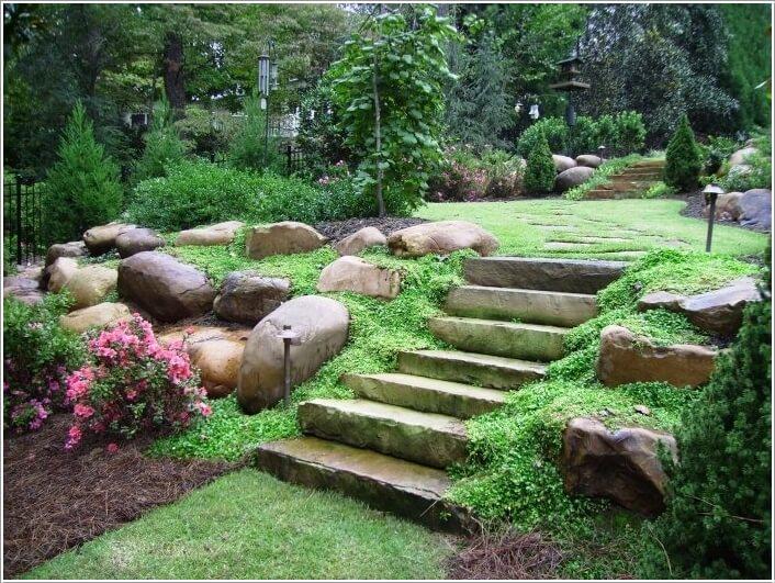10 Wonderful Ideas to Design a Sloped Yard 6