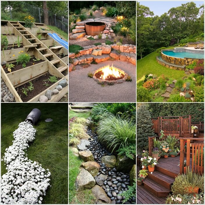10 Wonderful Ideas to Design a Sloped Yard a