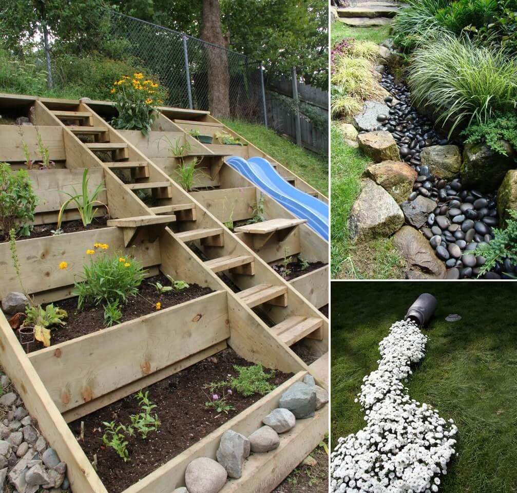 10 Wonderful Ideas to Design a Sloped Yard on Decking Ideas For Sloping Garden id=63654