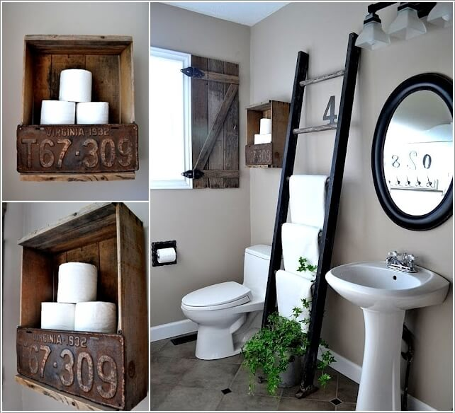 15 Clever Upcycled Bathroom Storage Projects 11