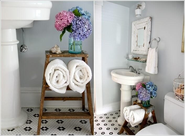 15 Clever Upcycled Bathroom Storage Projects 13