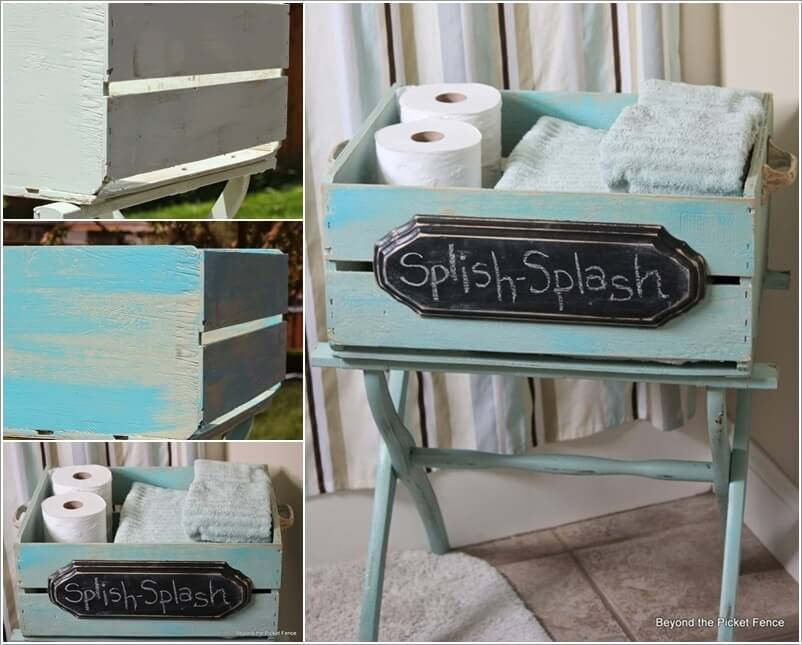 15 Clever Upcycled Bathroom Storage Projects 14