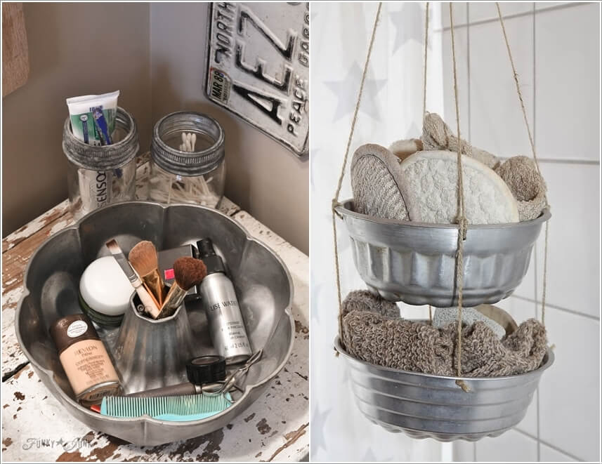 15 Clever Upcycled Bathroom Storage Projects 5