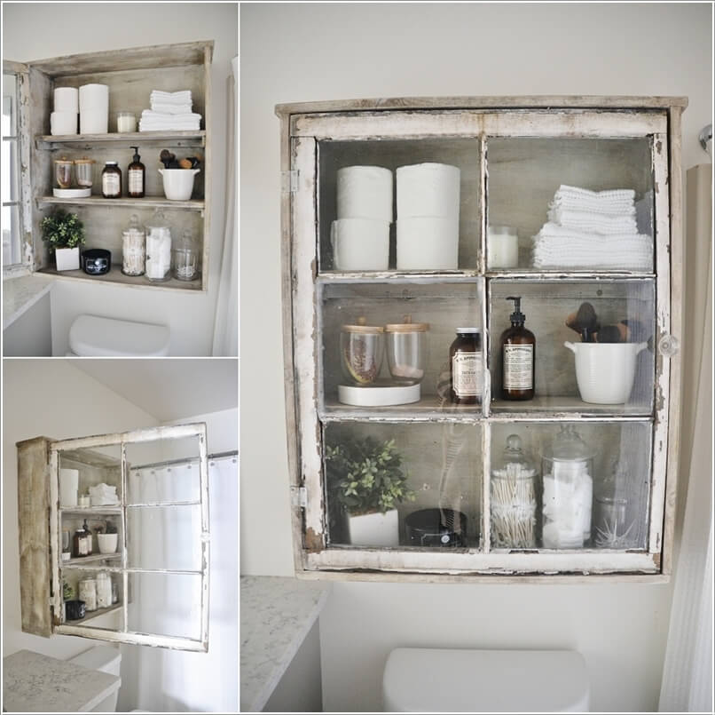 15 Clever Upcycled Bathroom Storage Projects 6