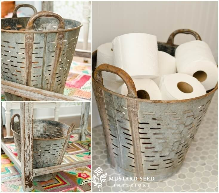 15 Clever Upcycled Bathroom Storage Projects 8