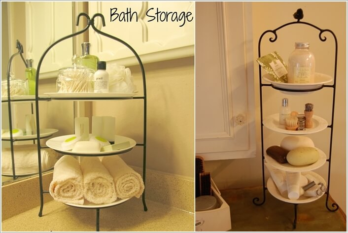 15 Clever Upcycled Bathroom Storage Projects 9