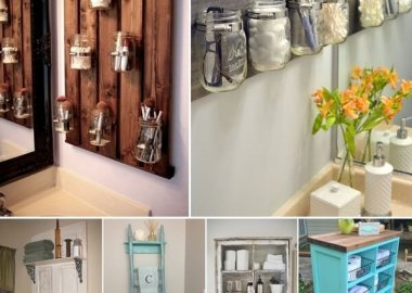 15 Clever Upcycled Bathroom Storage Projects fi