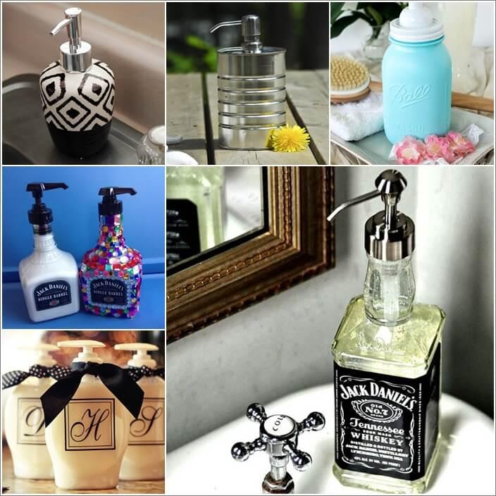 15 DIY Soap Dispenser Ideas for Your Bathroom 1