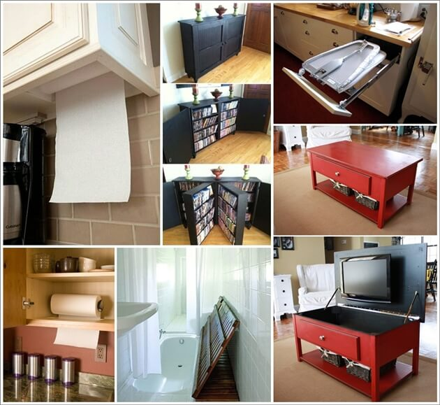 25 Clever and Creative Hideaway Projects for Your Home 1