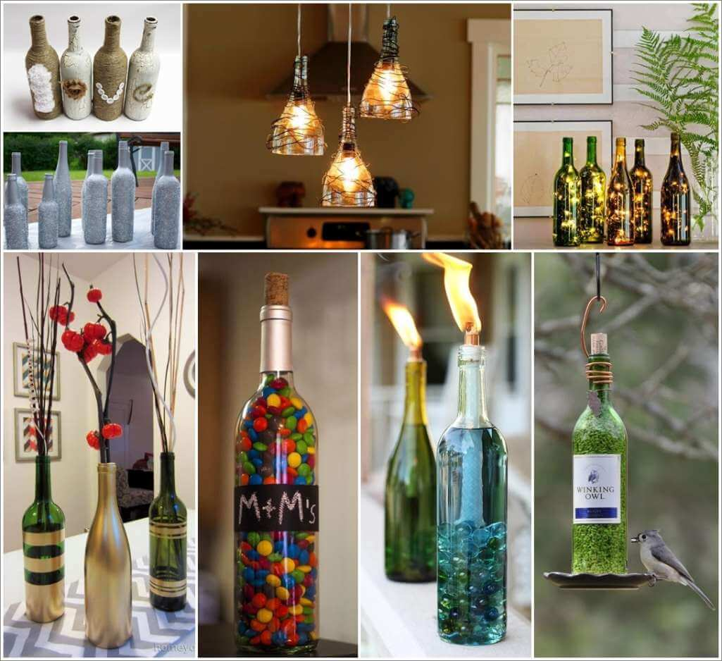 Delightful Wine Bottle Crafts Part - 10: Amazing Interior Design