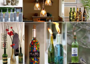 26 Creative Wine Bottle Crafts for You to Try fi