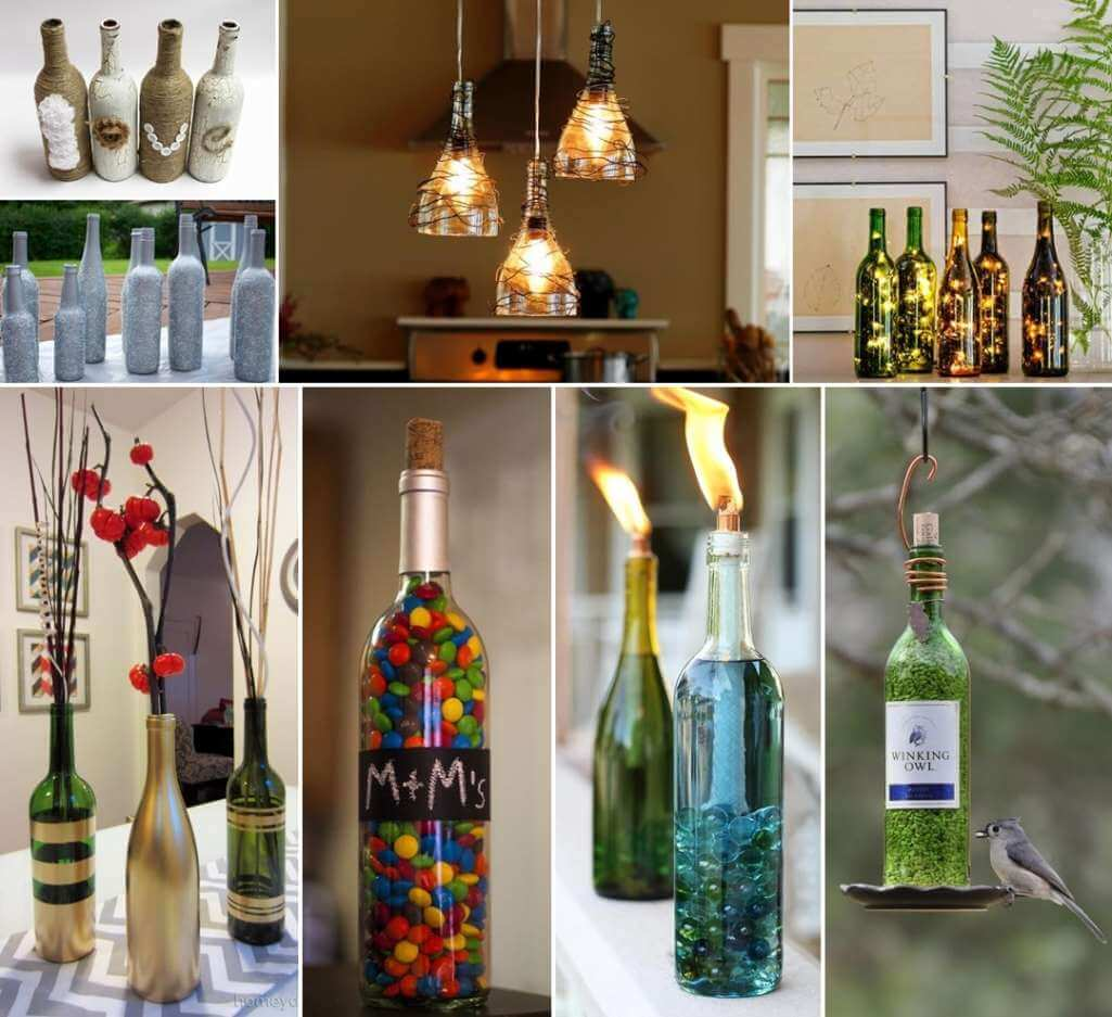 26 creative wine bottle crafts for you to try for Empty bottle craft