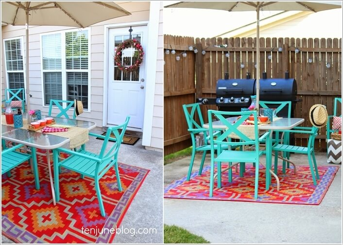 Add a Punch of Color to Your Patio and Make It Lively 5