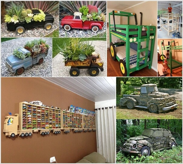 Cool Truck and Tractor Inspired Home Decor Projects 1