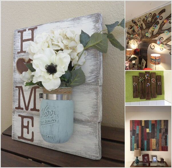 Creative Ways to Create a Wall Art from Pallets 1