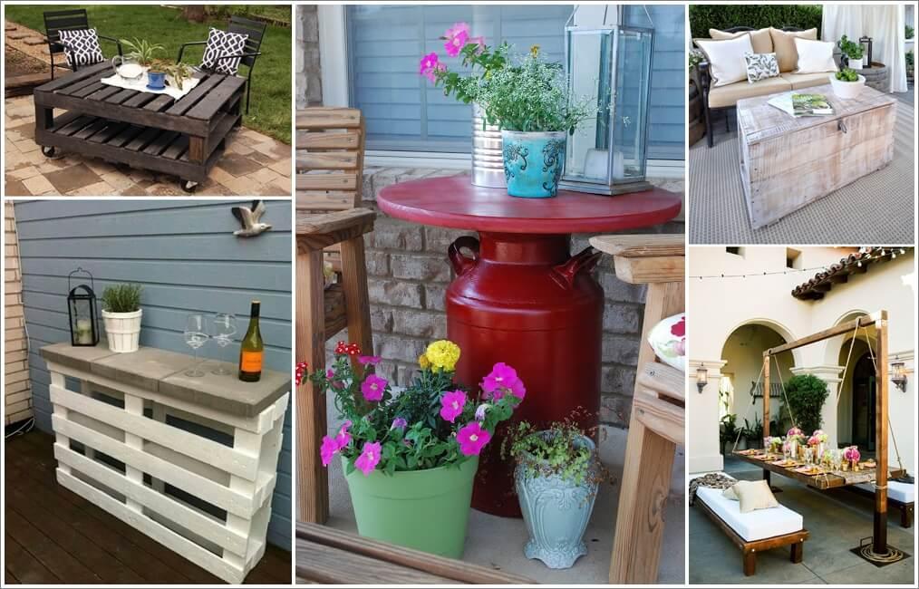 Make an Outdoor Table for Your Patio or Garden 1