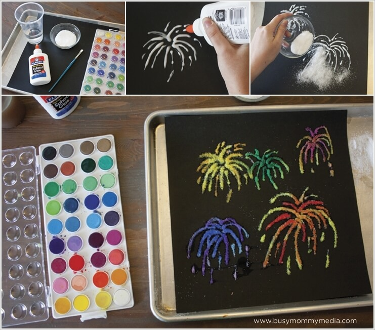 This Firework Salt Painting Idea is So Cool 1