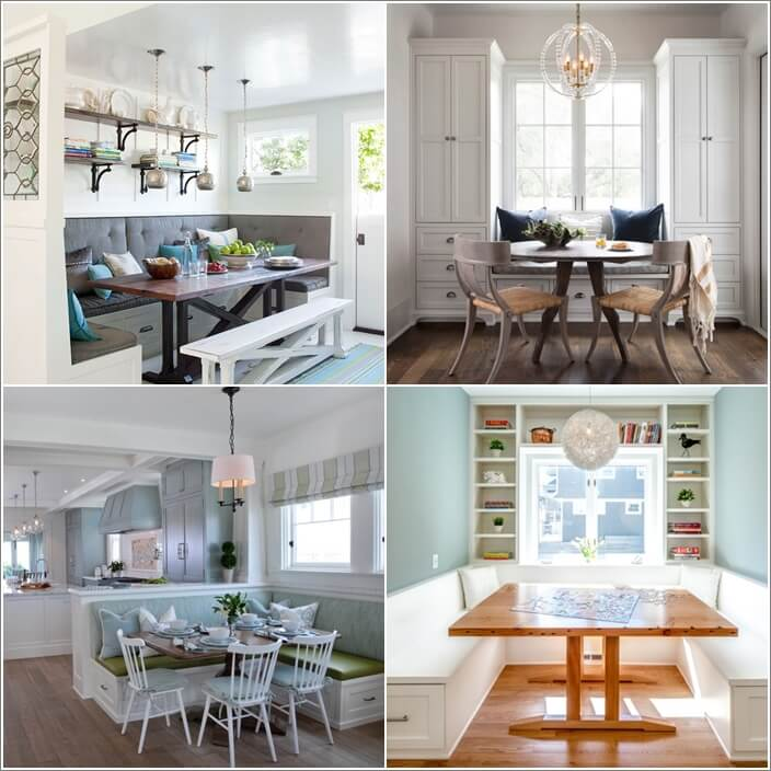 Clever Breakfast Nook Storage Ideas