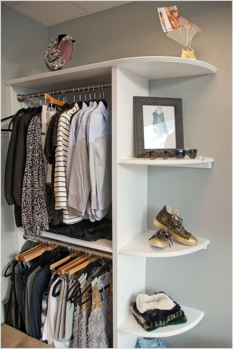 10 cool and clever diy corner closet ideas 7