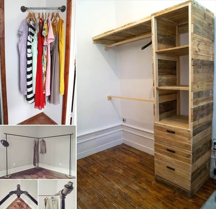 10 Cool And Clever DIY Corner Closet Ideas