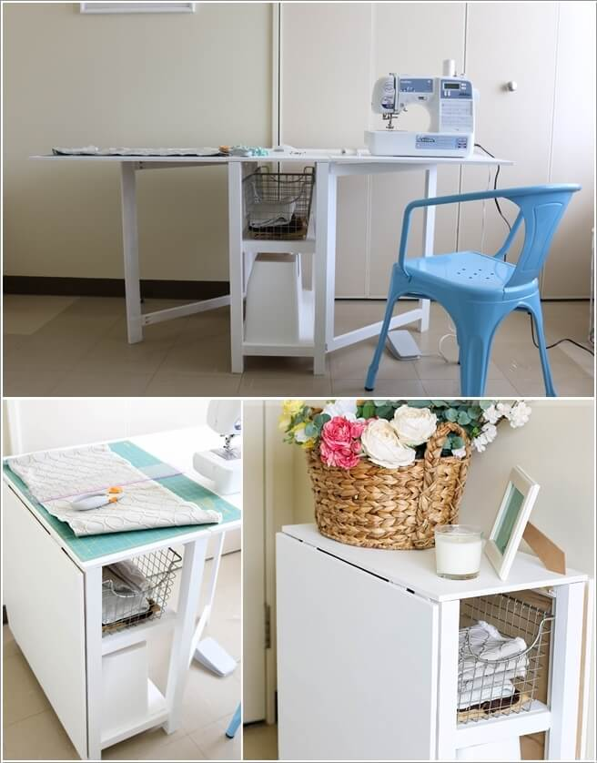 10 cool diy craft table ideas for your craft room. Black Bedroom Furniture Sets. Home Design Ideas