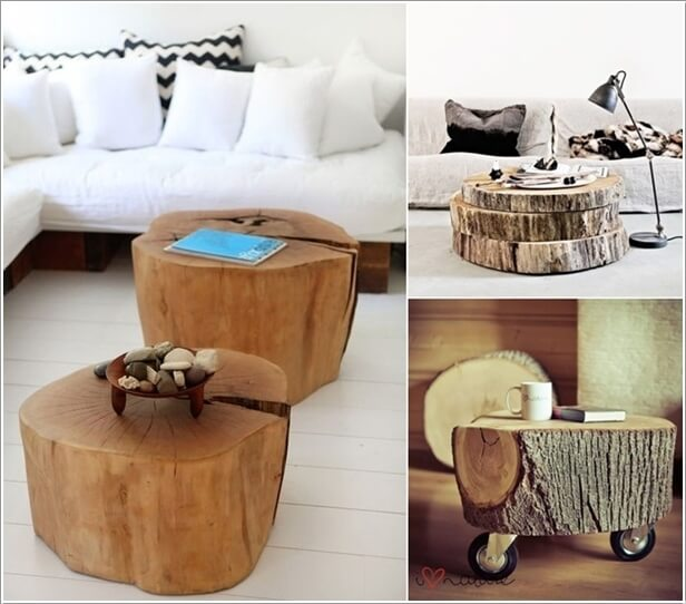 10 creative wood log crafts to try this winter for Winter creative interior design