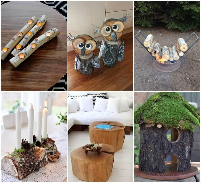 25 Creative Diy Home Decor Ideas You Should Try: 10 Creative Wood Log Crafts To Try This Winter