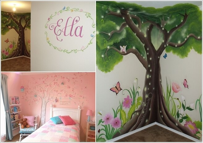 10 Cute And Creative Tree Inspired Kidsu0027 Room Decor Ideas 2