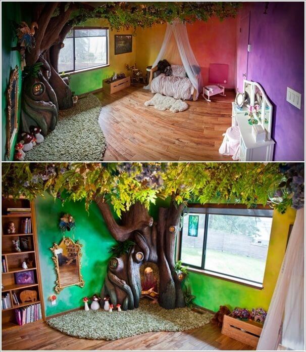 10 Cute and Creative Tree Inspired Kids\' Room Decor Ideas
