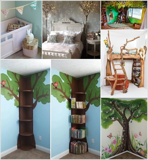 10 Cute and Creative Tree Inspired Kids\' Room Decor Ideas