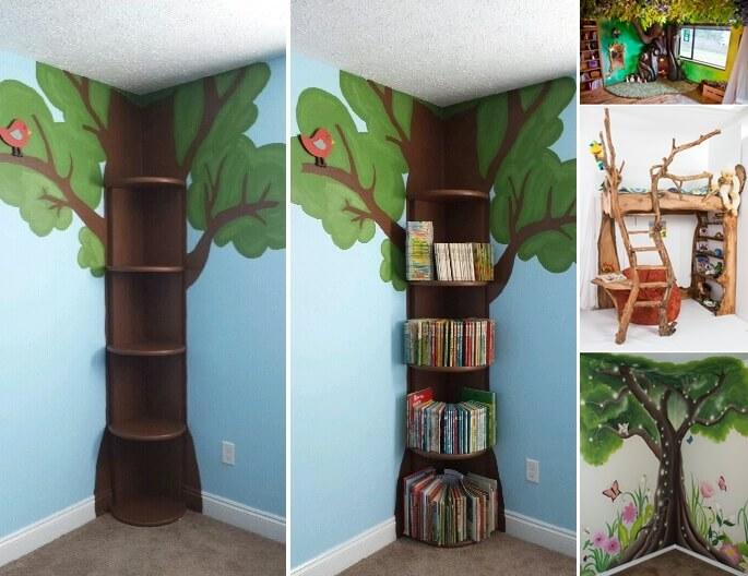 Tree Inspired Kids Room Decor Ideas