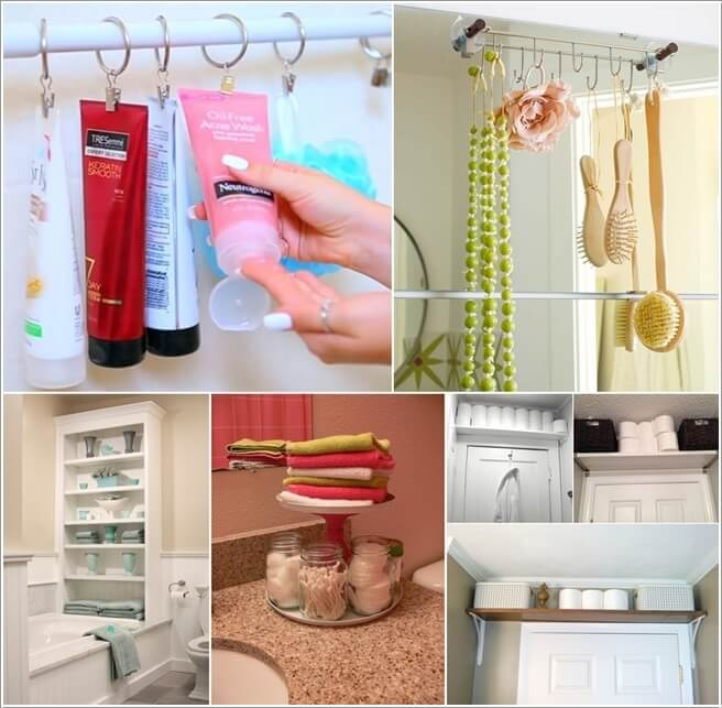 Creative Bathroom Hacks For Storage  Momma Young At Home