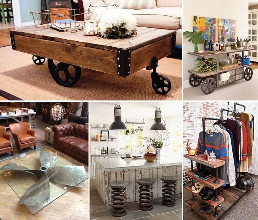 Diy Industrial Decor: 23 Cool DIY Industrial Furniture Designs