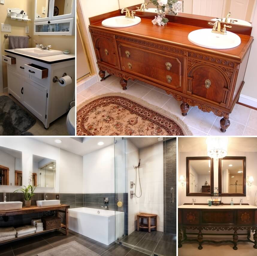 30 Bathroom Vanities That Were Once Pieces of Old Furniture